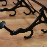Big Wall Mounted Cast Iron French Paris Parisian Bakery Swivel Hook Rack, Old Style