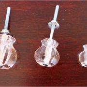 1.25″ PINK Glass Cabinet Knobs Pulls Vintage Dresser Drawer Hardware
