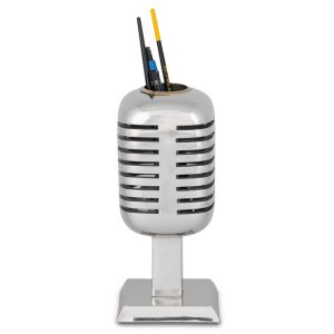Retro Microphone Pencil Holder Style from the 1940's Great Gift – The Kings Bay