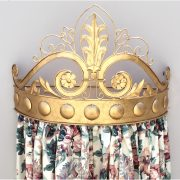 Big Royal Gold Metal Teester for Bedroom Door or Window Hardware