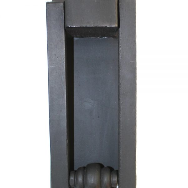 Heavy Iron Black Front Door Knocker Rectangular Hand Made Hardware