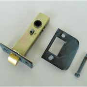 Tiffany Green Finish Latch Set for Door Hardware 2 3/8″ back set w solid brass face plate