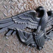 Big Black American Eagle Plaque Door Top Decor USA Pride Winged Old Style
