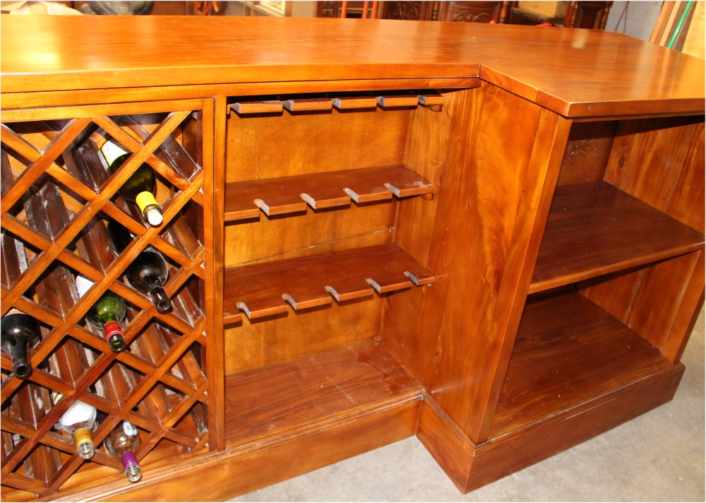 48' Antique Vintage Style Mahogany Victorian Front Back Home Bar New Back Home Furniture
