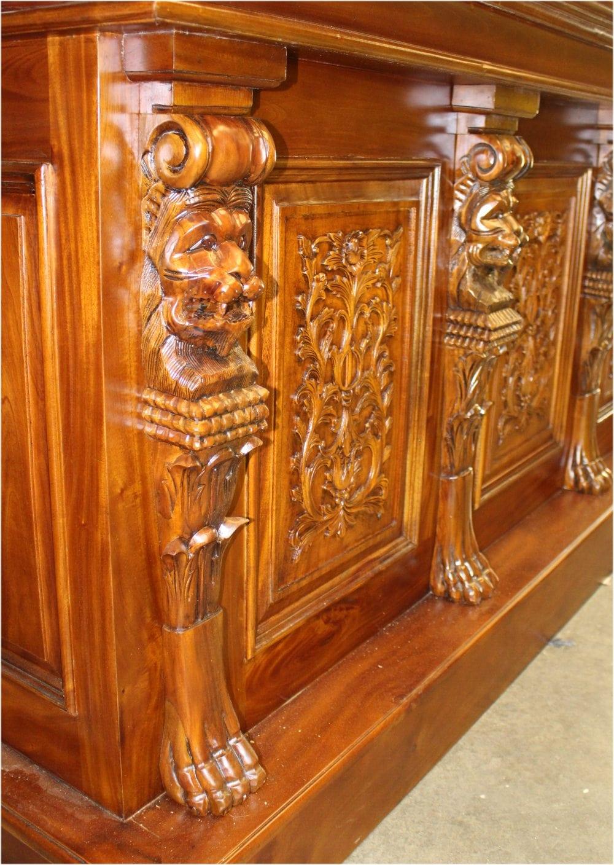 Lion Crest Tiffany Glass Canopy Home Bar Pub Antique