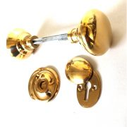 Rim Surface Door Lock Knob and Key Hole Set Hard to Find Hardware