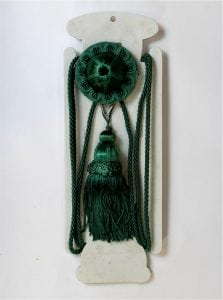 GREEN Victorian Picture Hanging Wall Hook Antique REPRO Rail Painting Art Hanger