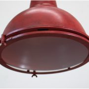 Aged Red Pendant Drop DOCK Light Ceiling Fixture for Home or Commercial Location
