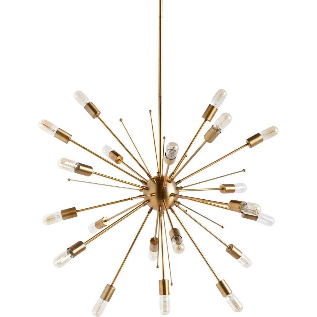 Space Age Starburst Sputnik Ceiling Chandelier Brass Modern Contemporary Light