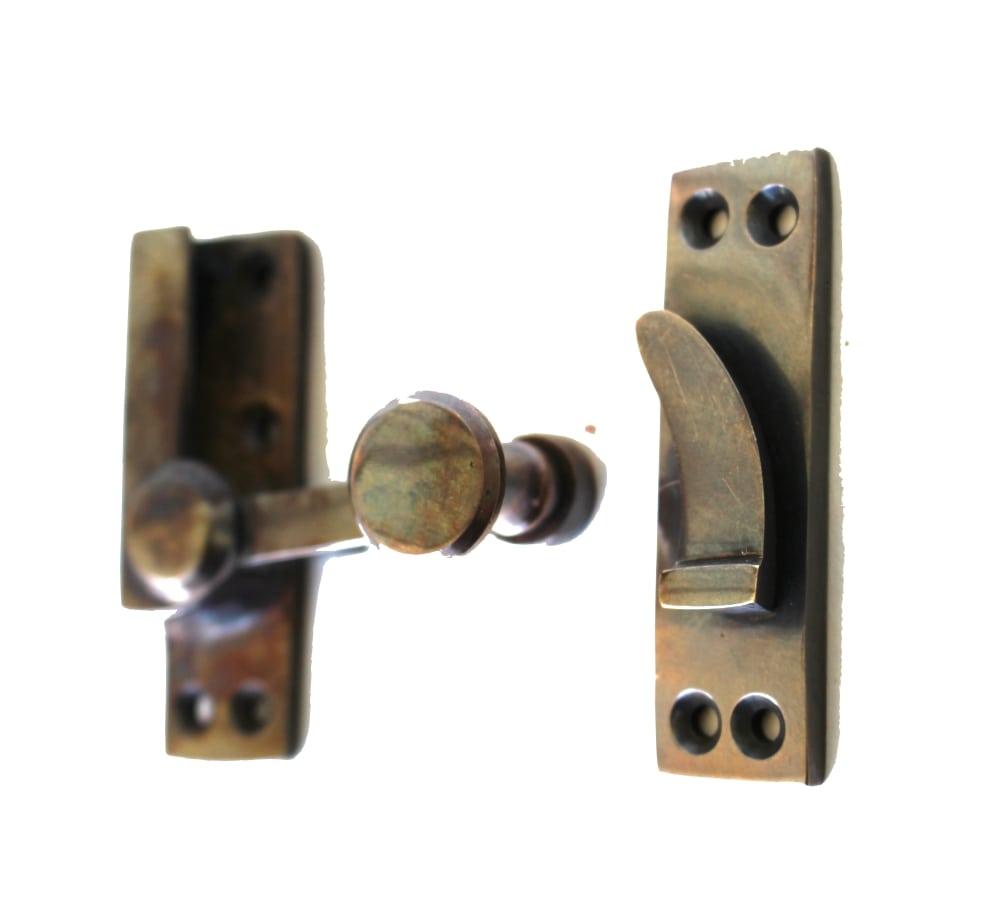 Window Sash Lock In Aged Brass Old Style Restoration