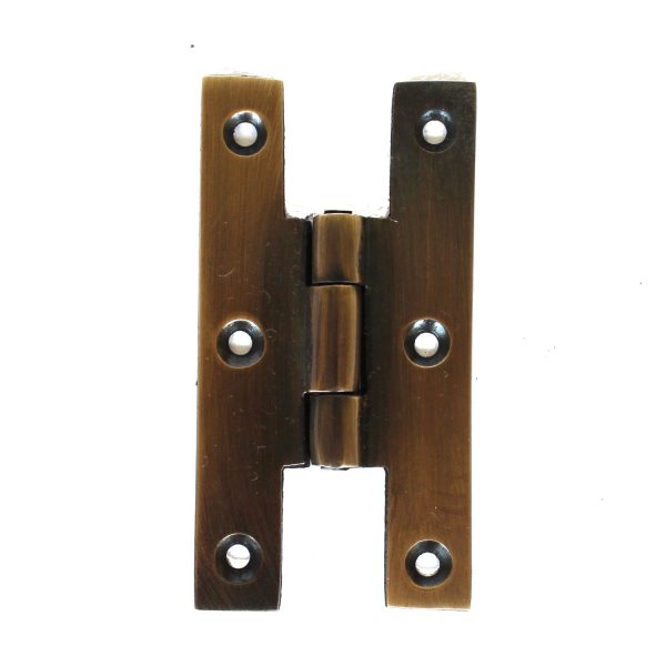 Aged Bronze Finish Solid Brass H Hinge for Door and Cabinet Furniture 3″ Tall