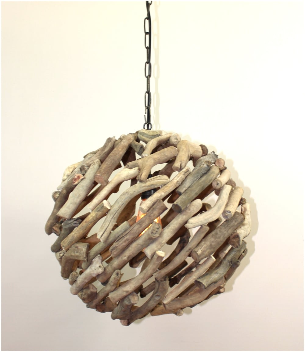 Driftwood 15 ball pendant chandelier ceiling mount light custom driftwood 15 ball pendant chandelier ceiling mount light custom nautical rustic arubaitofo Choice Image