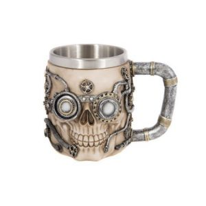 Pair 2 pcs Mugs in Steam Punk Apocalypse Post Nuclear Holocaust Style – Awesome