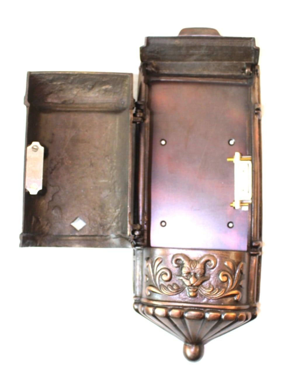 Victorian Mail Box Mailbox Vintage Style Aged Darkened