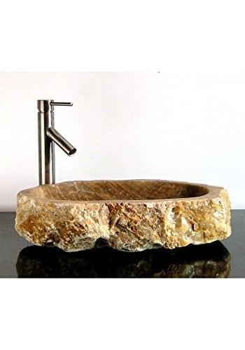 Freeform Onyx Gemstone Basin Vessel Sink Bathroom Counter Top C7T
