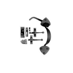 Spade Shaped Colonial Thumb Latch or Rim for Interior and Light Exterior Doors