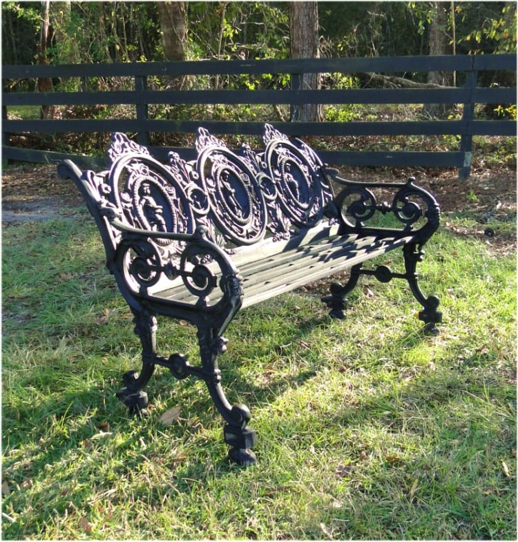 Cameo Back Garden Bench Seat Victorian Vintage Antique Style Replica The Kings Bay