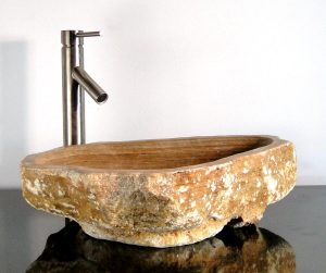 Freeform Onyx Gemstone Basin Vessel Sink Bathroom Counter Top C7M