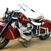 Replica INDIAN MOTORCYCLE Bike with Rubber Wheels & Iron Spokes Antique Vintage Style