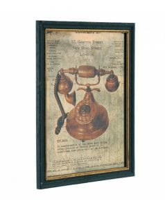 Artwork Framed Antique Telephone Wooden Frame Wholesale Discount Old Vintage