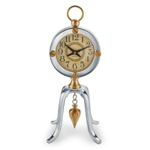 Table Clock With Art Nouveau Style Face and Transit Pendulum Circa 1800's Look