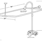 Better Add A Shower Kit with Extra Supports and Octagon Shower Head