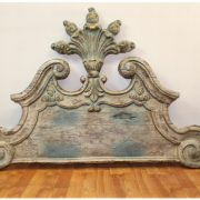 BIG Wall Mounted Vintage Style Architectural Art or Bed Room Head Board, Aged Antique Finish