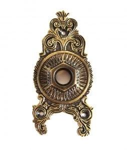Sunburst Victorian Door Hardware Back Plate Aged Bronzed Brass