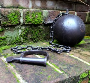 BIGGEST Iron Ball and Chain for Wedding Groom Bridge Jail Cell or Gang