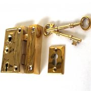Mini Brass Rim Lock Screen Door or Bathroom Home Decor Privacy Set