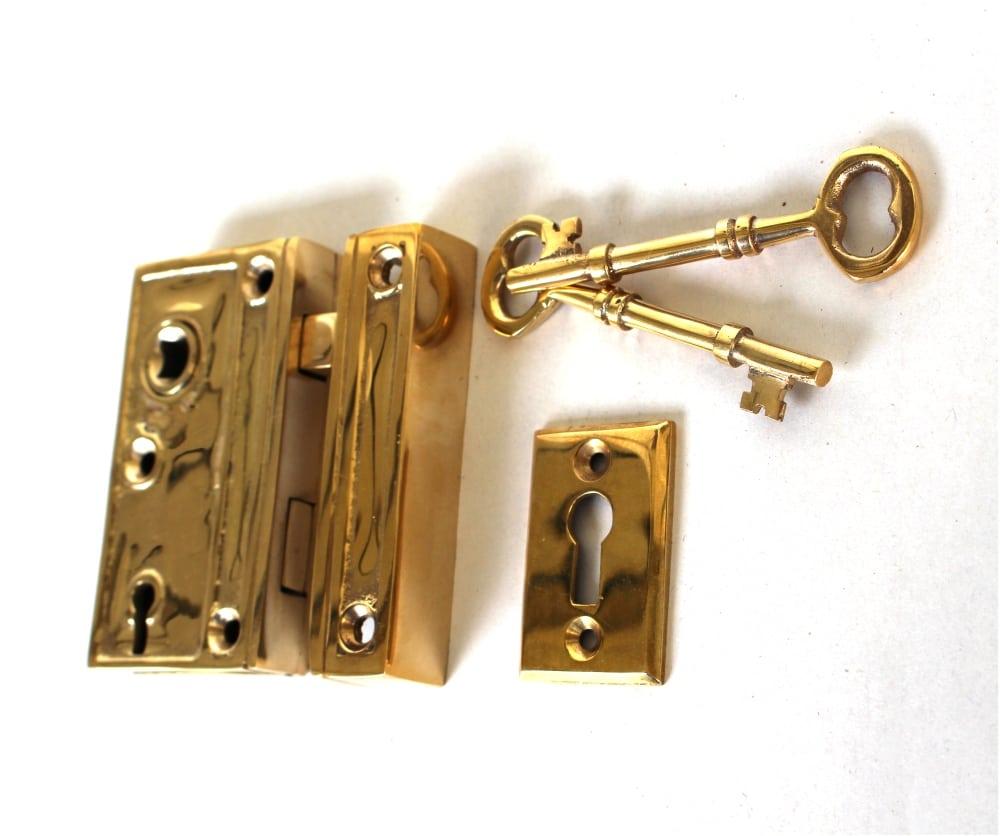 Mini Brass Rim Lock Screen Door or Bathroom Home Decor ...