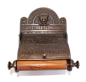 The Sanitary London Toilet Paper Holder Holder old English Style Replica Bronze