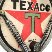Texaco Oil Company Gasoline Motorcycle Headlight Antique Style Wall Sign