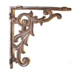 Old Country Shelf Bracket in Cast Iron Small Leaf 6.5″ – The Kings Bay