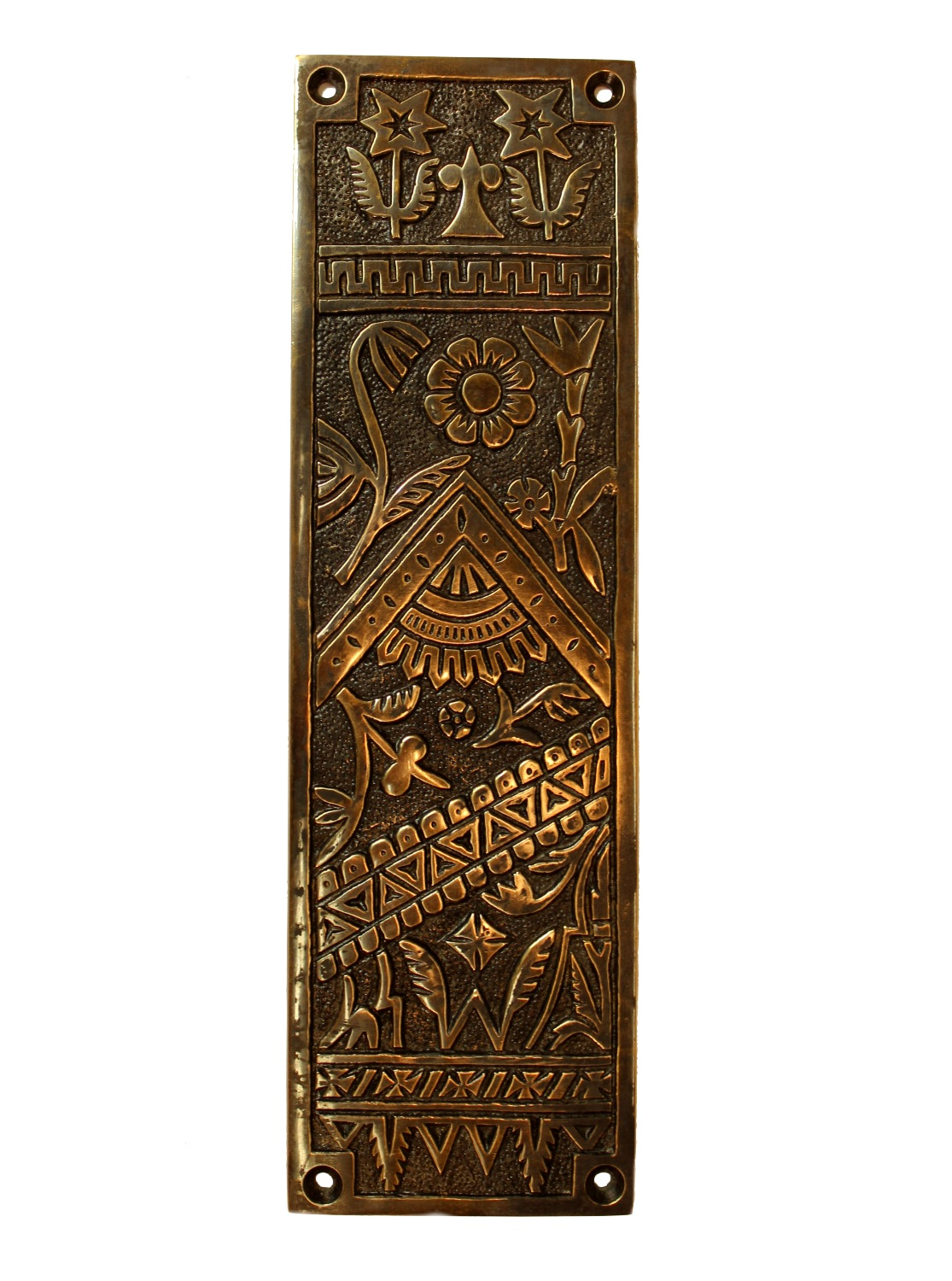 Antique Push Plate Door Hardware Victorian Design Vintage Restoration  Replica Hardware Bronze Finish - Antique Push Plate Door Hardware Victorian Design Vintage