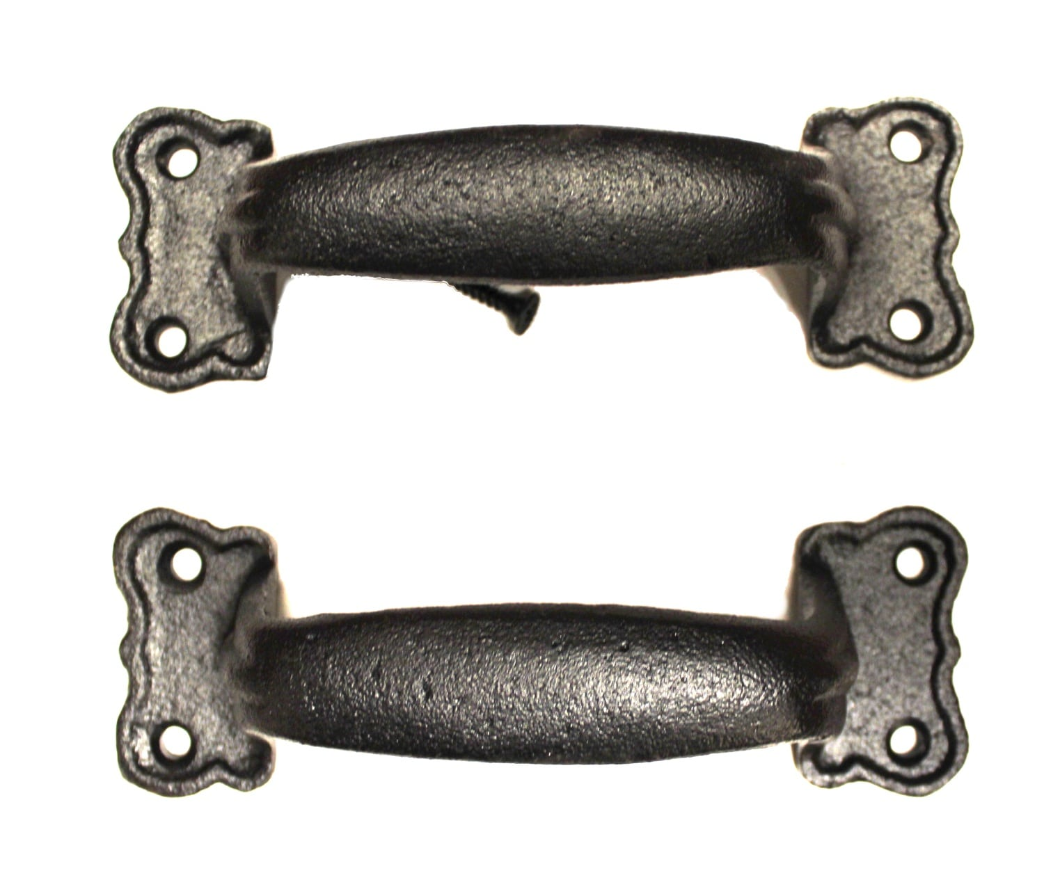 Old Antique Style Cast Iron Trunk Cabinet Pull Pair Heavy ...
