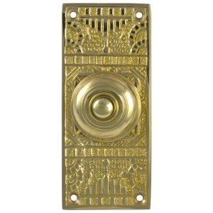 Victorian Vintage Replica Door Bell Button Electric Brass Hardware Push Button