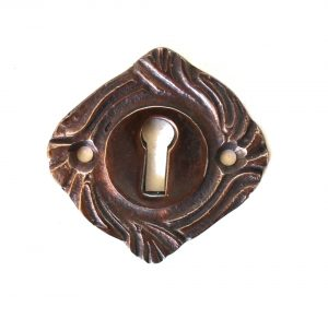 Lovely Brass Key Hole with Vintage Style Design DARKENED