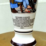 Beer Drinker's Prayer Funny Glass, Lord's Prayer Parody, Porcelain