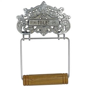 CHROME Victorian or French Style Wall Mounted Toilet Paper Holder Antique Replica