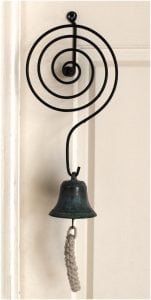 Shop Keepers Bell Door springing old fashioned store Tiffany FINISH Replica