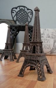 Eiffel Tower Votive Candle CAST IRON Sculpture French Paris Old Fashioned Lookin