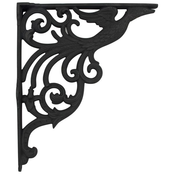 Vintage Style Cast Iron BIG SINK Wall Bracket for Plants Wind Chime Hanging Stuff