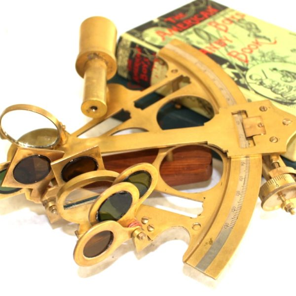 Antique Replica Brass Admirals Sextant, Ships Captain Navigation Tool