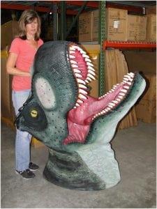 Big Wall Mounted T Rex Trophy Head, Jurassic World, Huge Terra Nova Dinosaur