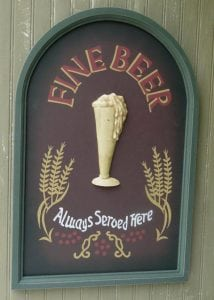 Wooden Antique Style Pilsner BEER Glass Wall Sign Man Cave or Retro Bar Decor