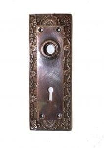 Shell Top Door AGED Back Plate Hardware Solid Brass Vintage Hardware