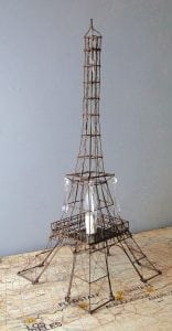 Tall Eiffel Tower Night Light wire metal lamp sculpture french paris old fashioned