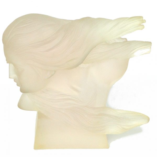Acrylic Lucite Art Womans Face Sculpture Vintage 1960's Modern Hart Haziza Style