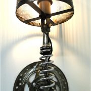 Wall Mount Motorcycle Clutch & Spring Sconce Light Fixture Antique Parts Steampunk